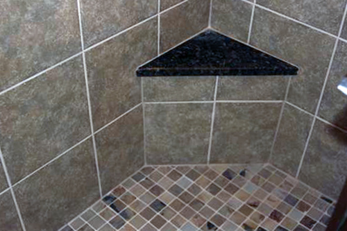 bathroom shower seat tile